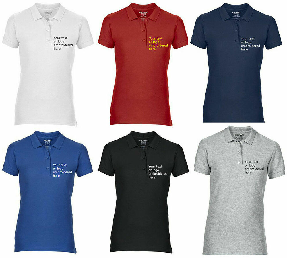 12f7da807 Details about Custom Embroidered Polo shirt - GILDAN PREMIUM LADIES GD73-  Your logo or text