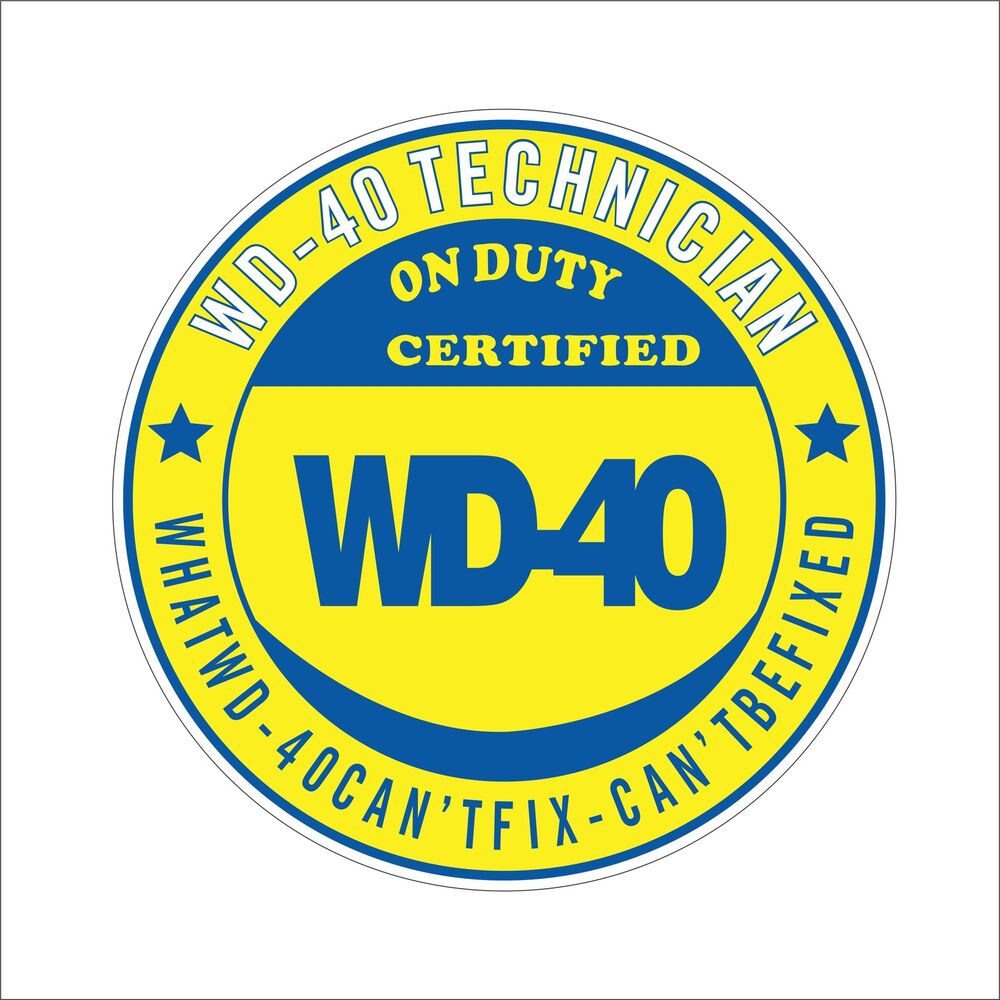 Details about wd 40 cool vinyl hard hat sticker decal funny danger motorbike car window decor