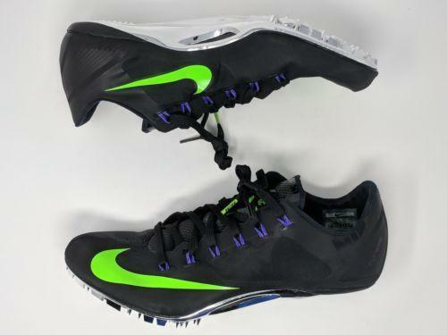 0e7eafe011e0 Details about Nike Zoom Superfly R4 Black Green Men s Sprint Track Cleats  526626-053
