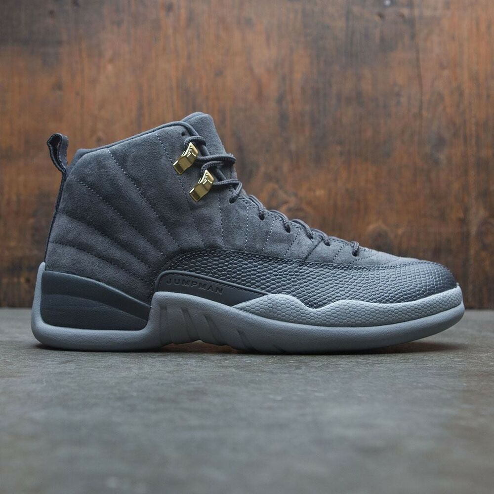 low priced 752a1 a821b Details about 2017 Nike Air Jordan 12 XII Retro Dark Grey Gold Suede Size  15. 130690-005