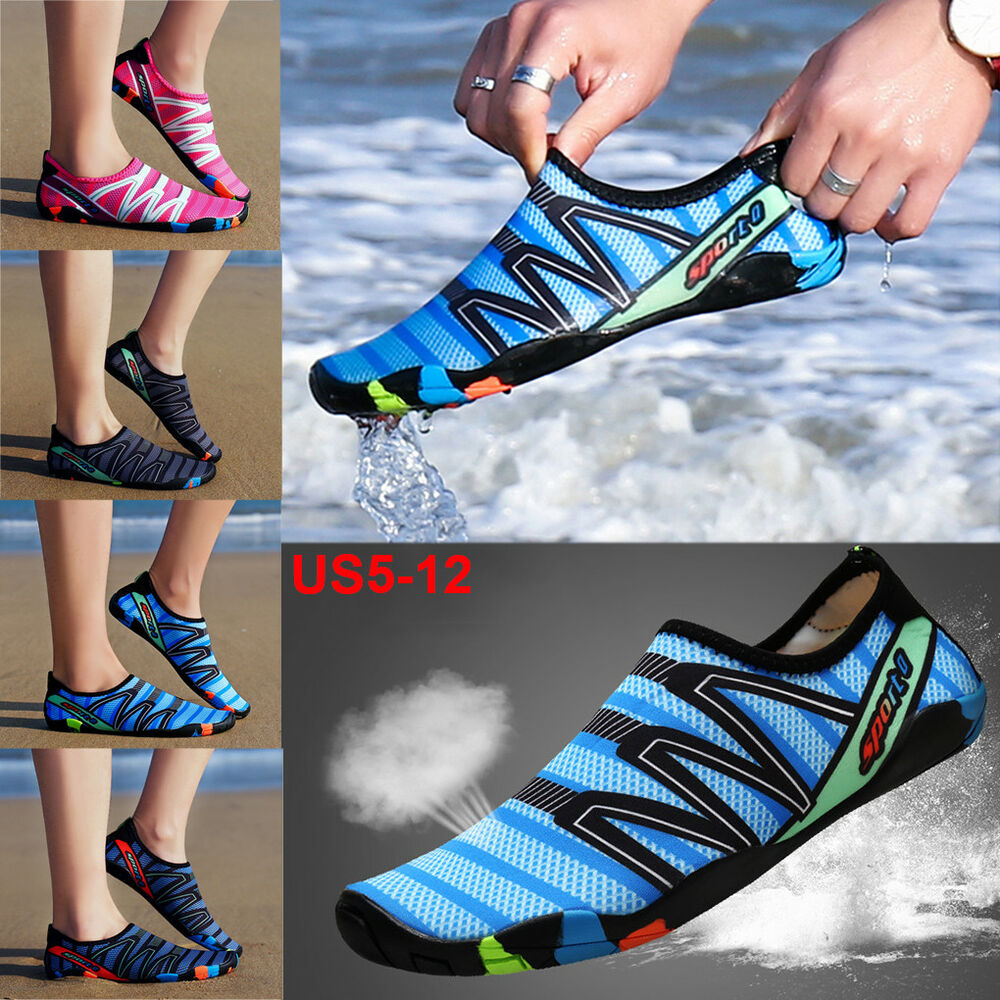 83cdd5c70af7 Details about Women Men Water Shoes Aqua Swim Beach Quick-Dry Barefoot  Sports Skin Socks US12