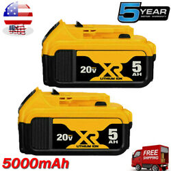 Kyпить 2 Pack For DeWalt 20V 20 Volt Max XR 6.0AH Lithium Ion Battery DCB206-2 DCB205-2 на еВаy.соm