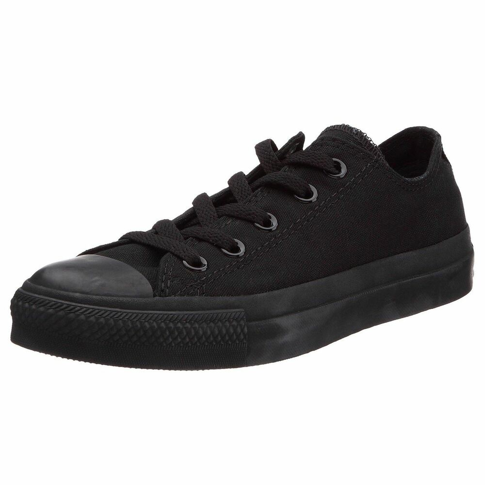 ca11711eff33 Details about Converse Chuck Taylor All Star Black Mono Ox Lo Unisex  Trainers Shoes