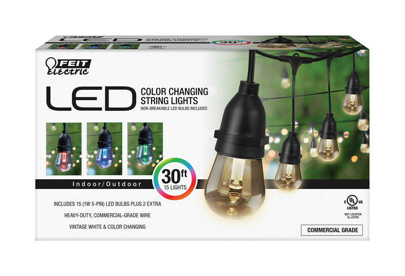 Feit Electric Decorative Color Changing String Light Set