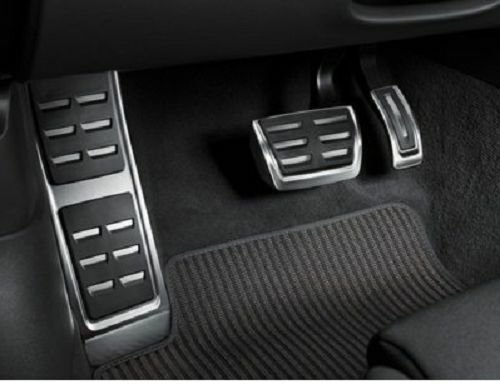 Genuine Audi A6 A7 Aluminium Pedal Covers Amp Footrest Automatic Amp Rhd Only Ebay