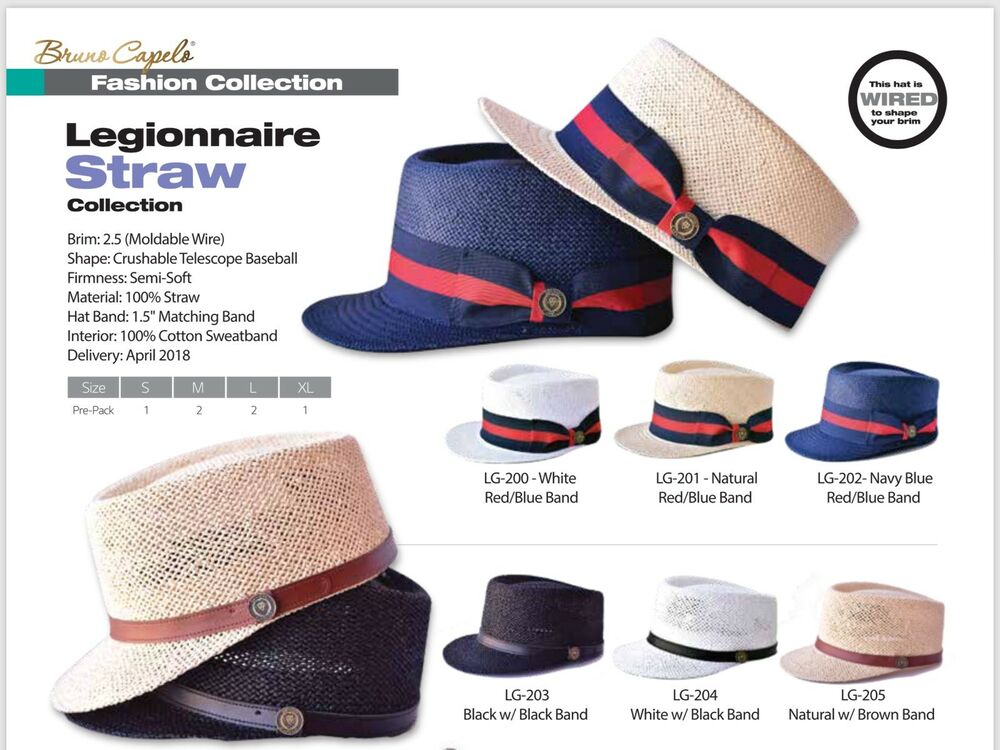 a79b4451d026a Mens bruno capelo legionnaire straw collection telescope baseball boater  band ebay jpg 1000x750 Legionnaire bruno capelo