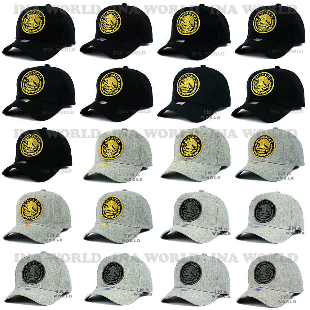 Details about MEXICAN hat cap MEXICO Federal Logo State Embroidered Curved  bill Baseball cap e52aae9b75b9