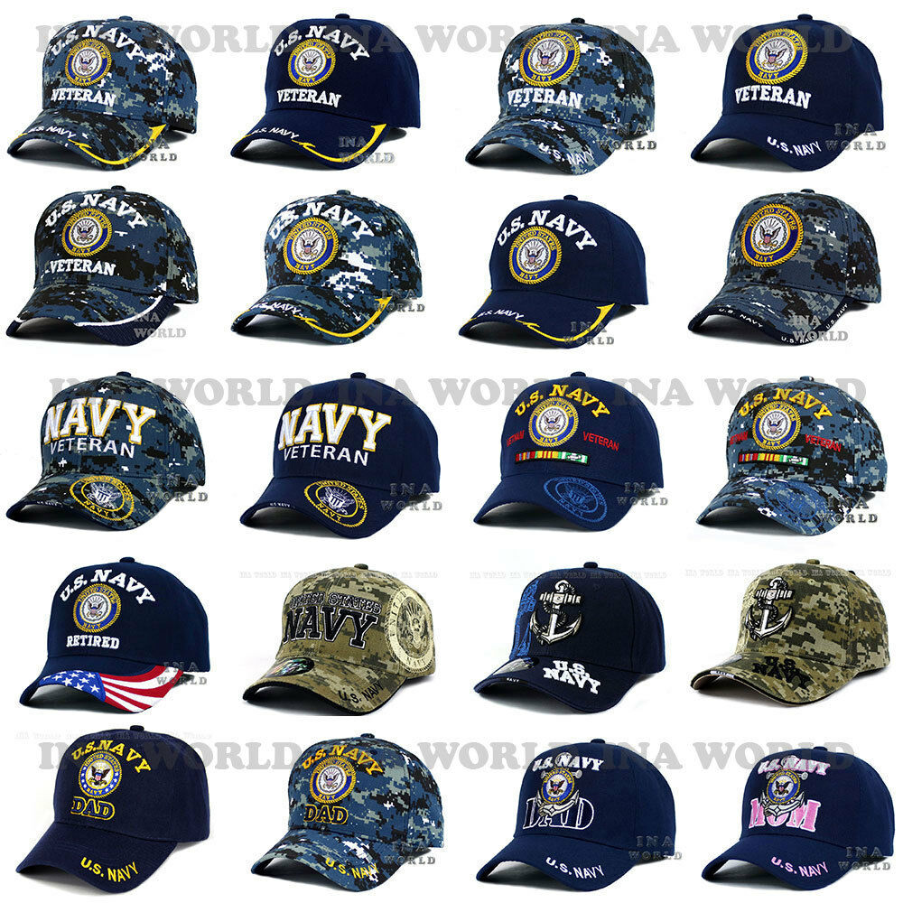 1f273f9195c4cf Details about U.S. NAVY hat Military NAVY Logo Embroidered Official  Licensed Baseball cap