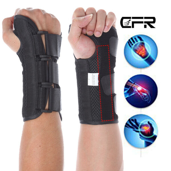 Wrist Support Splint Brace Carpal Tunnel Arthritis Sprain Pain Left Right Hand S
