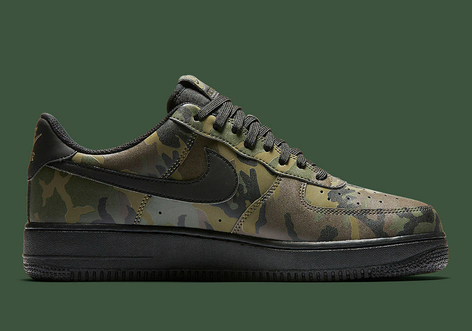 57609fdb06c Details about NIKE AIR FORCE 1 07 LV8 MEDIUM OLIVE CAMO REFLECTIVE SHOES  718152 203 SIZE 8.5