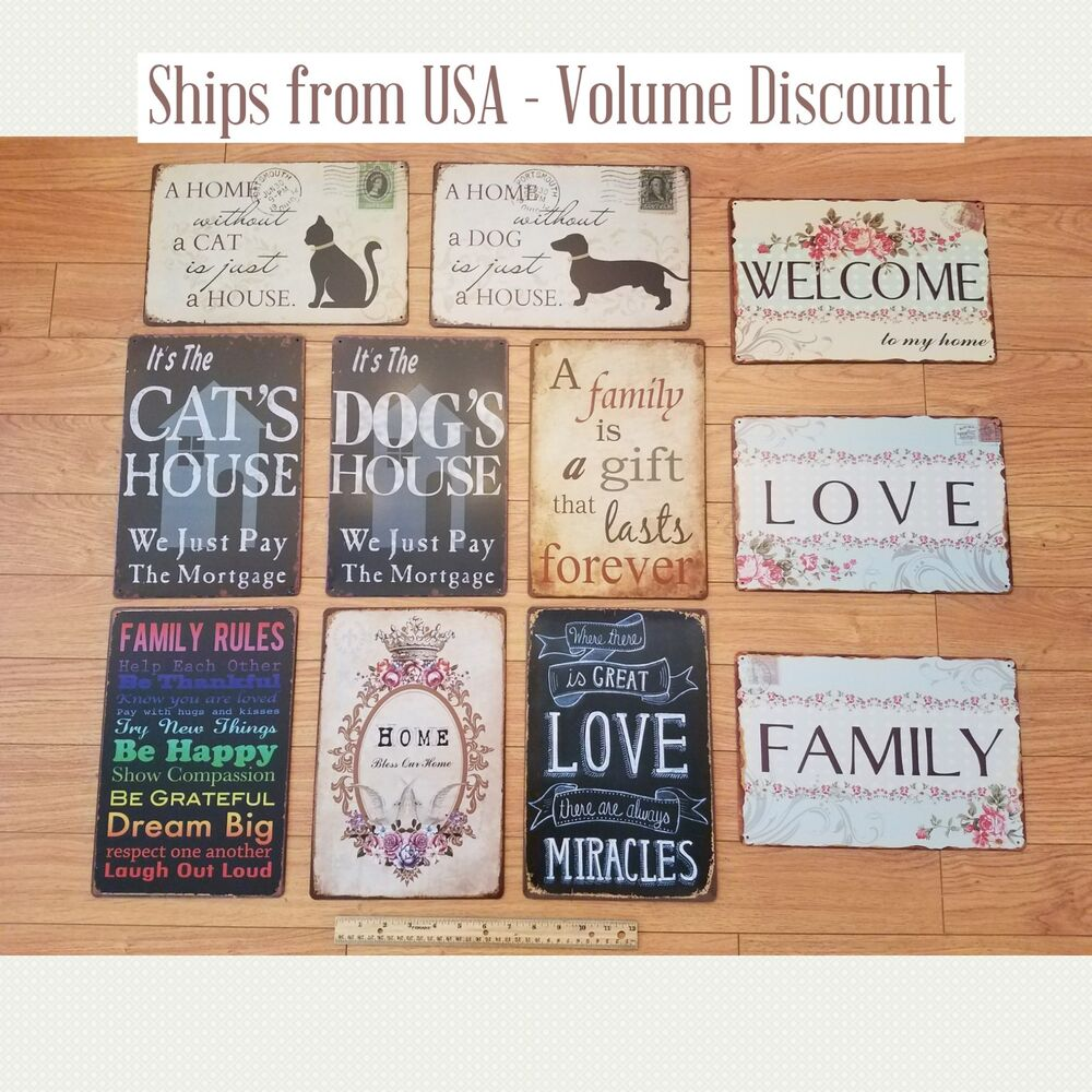 Delicieux Details About Home Decor Tin Signs Wall Signs Kitchen Tin Signs  Inspirational Signs Quote Sign