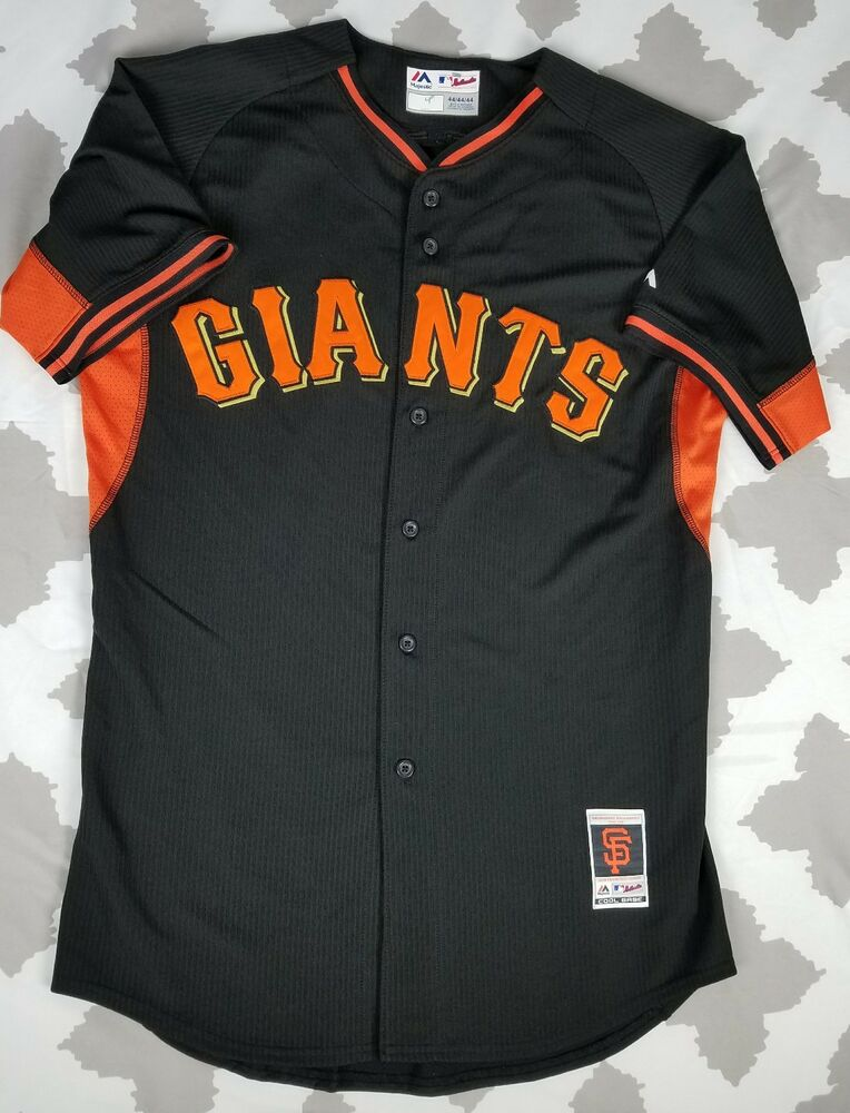 0c2bfb8a681 Details about San Francisco Giants Majestic Authentic Cool Base Baseball  Jersey sz 44 L Black