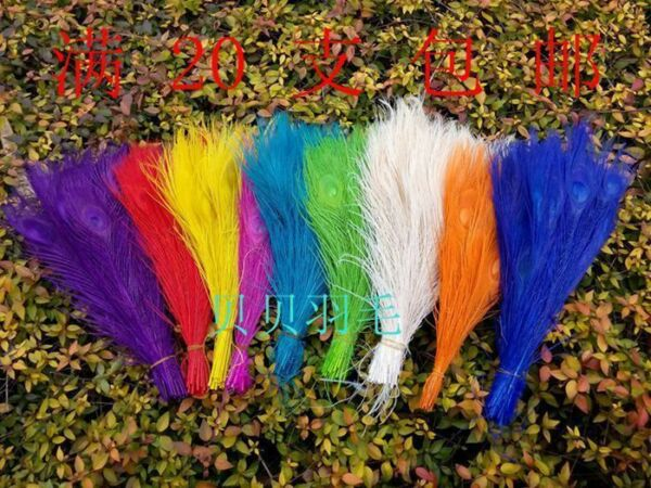 Wholesale,10-100pcs Staining Peacock Tail Feathers about 10-12 Inches