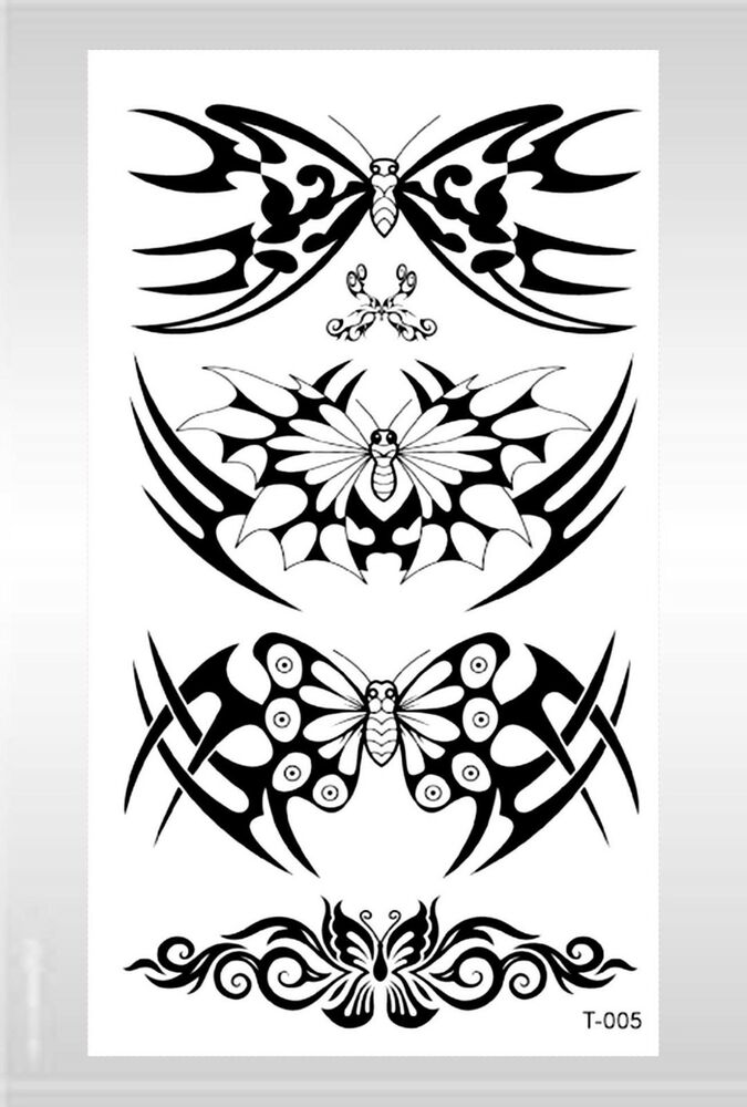 Us Seller- Sexy Women Face Arm Wrist Tribal Butterfly Temporary Tattoo  Ebay-1627