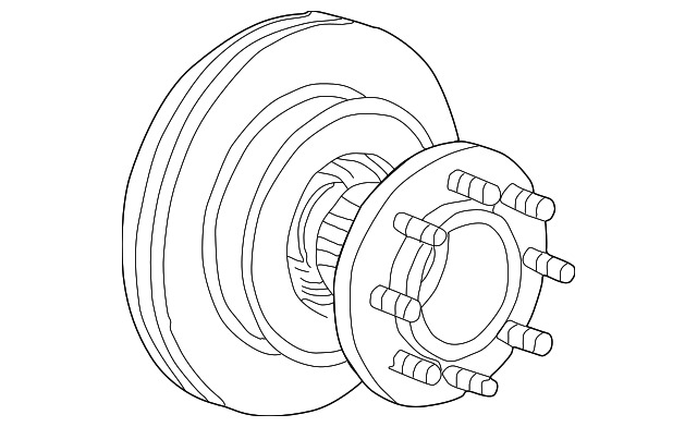 Genuine Ford Hub Rotor 5c3z 1102 Gb