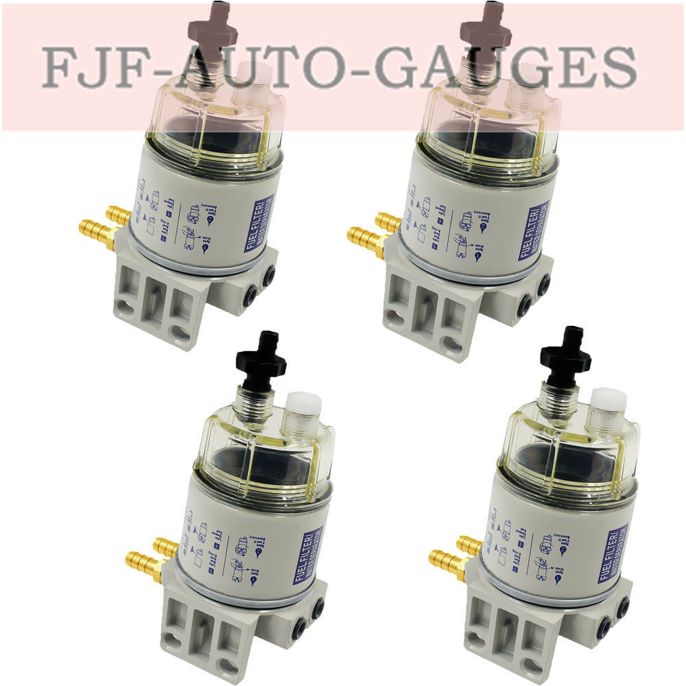 4Set of Marine Spin-on Fuel Filter Water Separator New Type of R12T For  RACOR