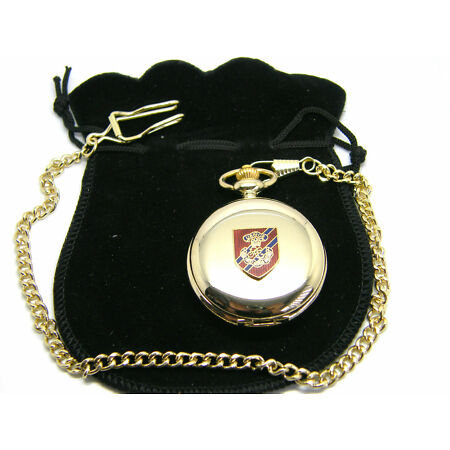 img-THE ROYAL ENGINEER OFFICER BADGE POCKET WATCH & CHAIN ARMY MILITARY GIFT