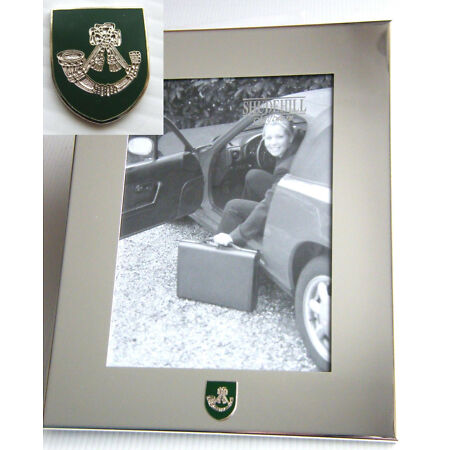 img-THE LIGHT INFANTRY ARMY BADGE SILVER CHROME PLATED PHOTO FRAME MILITARY OPTIONS