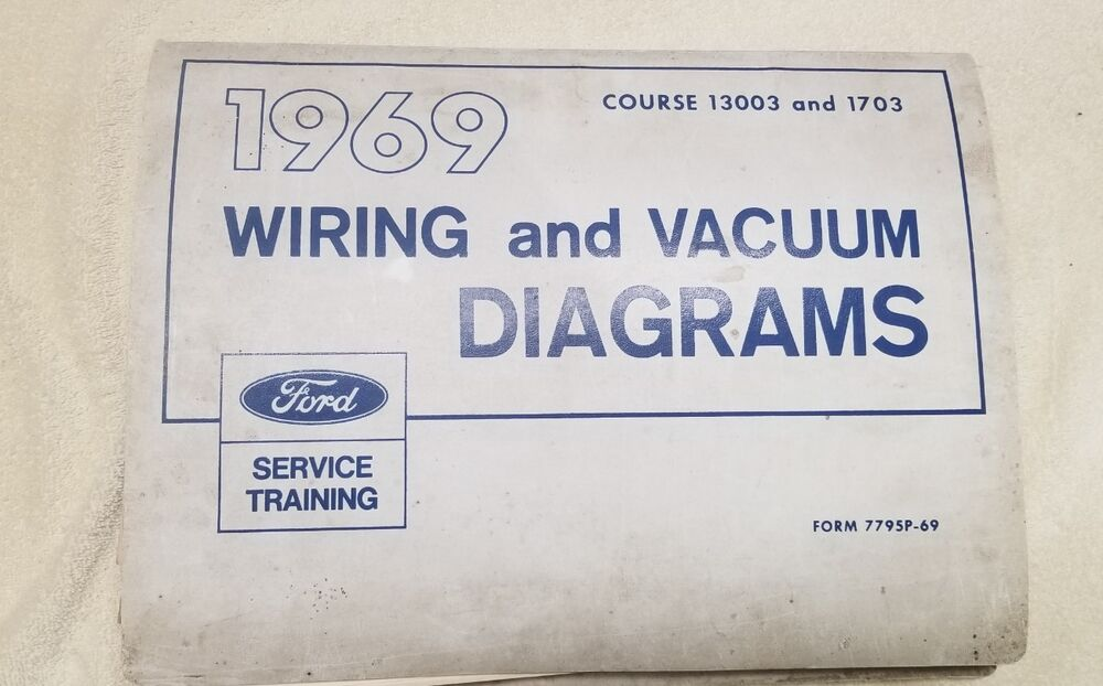 Oem Ford 1969 Wiring Diagram Book Galaxie Mustang Cougar