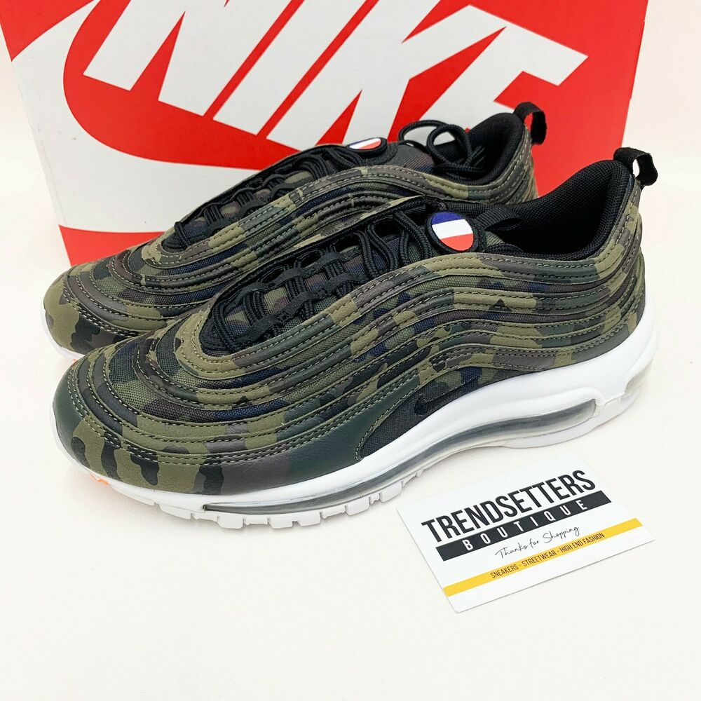 NIKE AIR MAX 97 UK US FRANCE CAMO QS 9 10 10.5 11 11.5 12 CAMOUFLAGE AJ2614  200  855635913