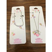New Claire's Girls Pierced Costume B Tween Necklace & Earrings Set & Necklace