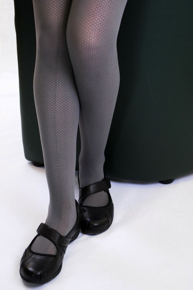 aaf1a35463a8a 80 DENIER OPAQUE BACK TO SCHOOL GREY RELIEF TIGHTS FOR GIRLS Miss Jane 0159