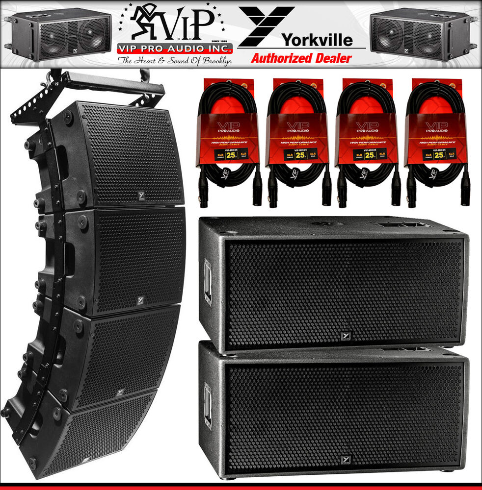 4x Yorkville Psa1 Active Array 2x Psa2s Powered Subwoofer Cables 8r 625w Loudspeaker Driven By Power Amplifier Accessories 840402030010 Ebay
