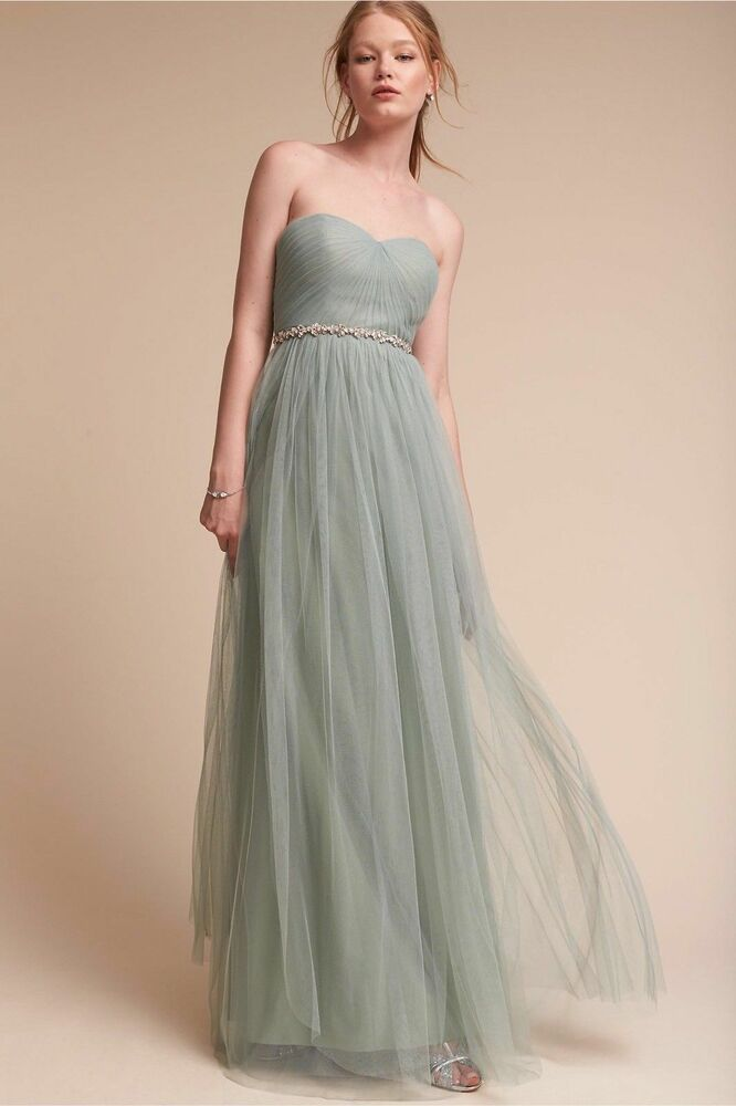 6cbb4008428 Details about NWOT Anthropoligie BHLDN Annabelle Dress By Jenny Yoo Size 12  XL In Mayan Blue