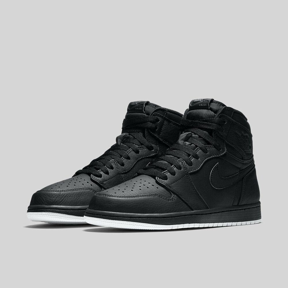 cb07a0dde0e93 Details about Nike Air Jordan 1 Retro High OG Black White Perforated Size  10. 555088-002
