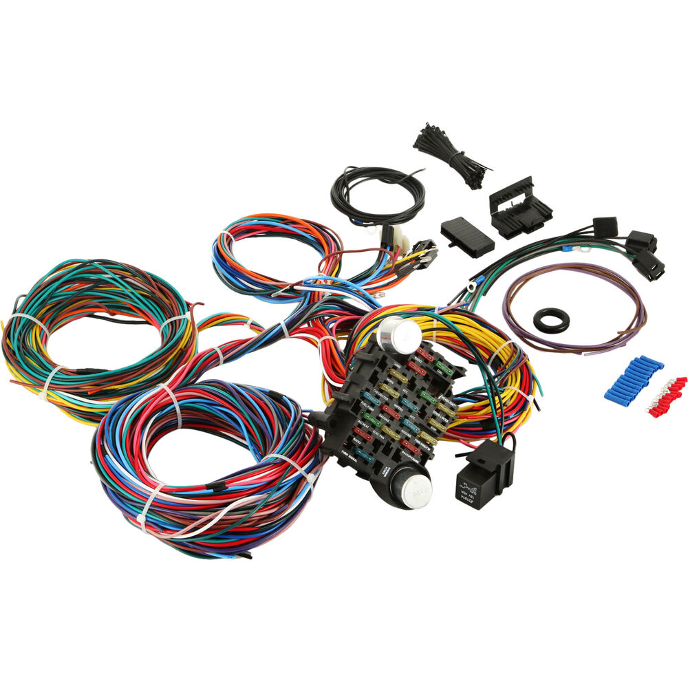 21 Circuit Wiring Harness Fit Chevy Universal Hotrods