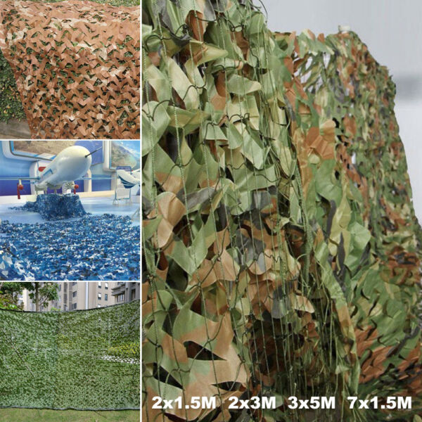 Filet Camouflage Forêt Net Camping Voiture Chasse Cacher Armée Militaire