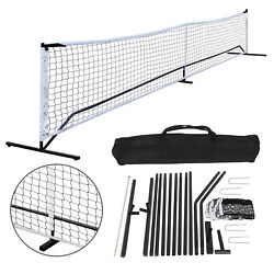 22FT Portable Pickleball Tennis Net For Outdoor Nylon Sports W/Carry Bag Metal