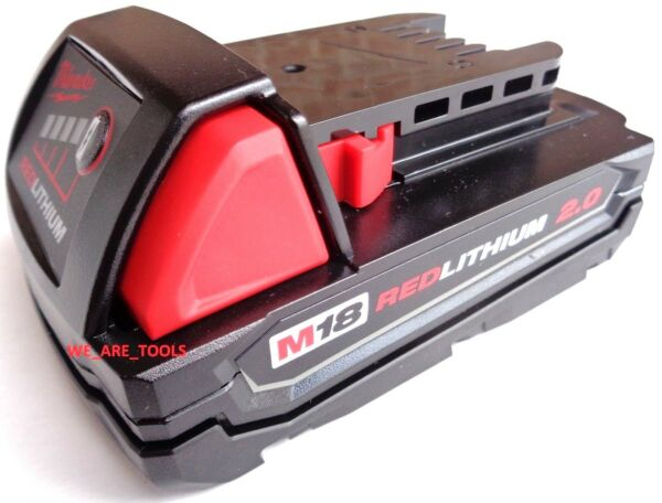 (1) NEW GENUINE 18V Milwaukee 48-11-1820 2.0 Compact BATTERY M18 Red Lithium