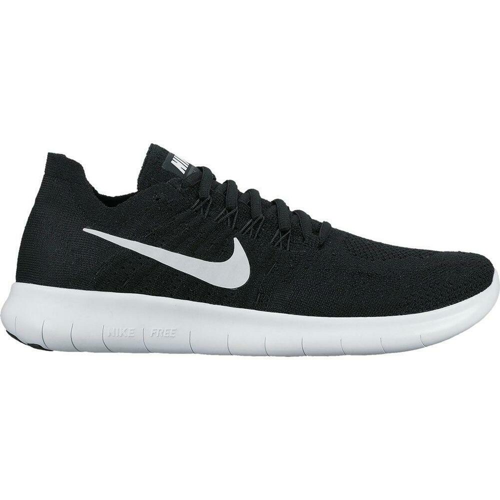 ce5a104a0b1 Womens Nike Free RN Flyknit 2017 Black Running Trainers 880844 001 ...