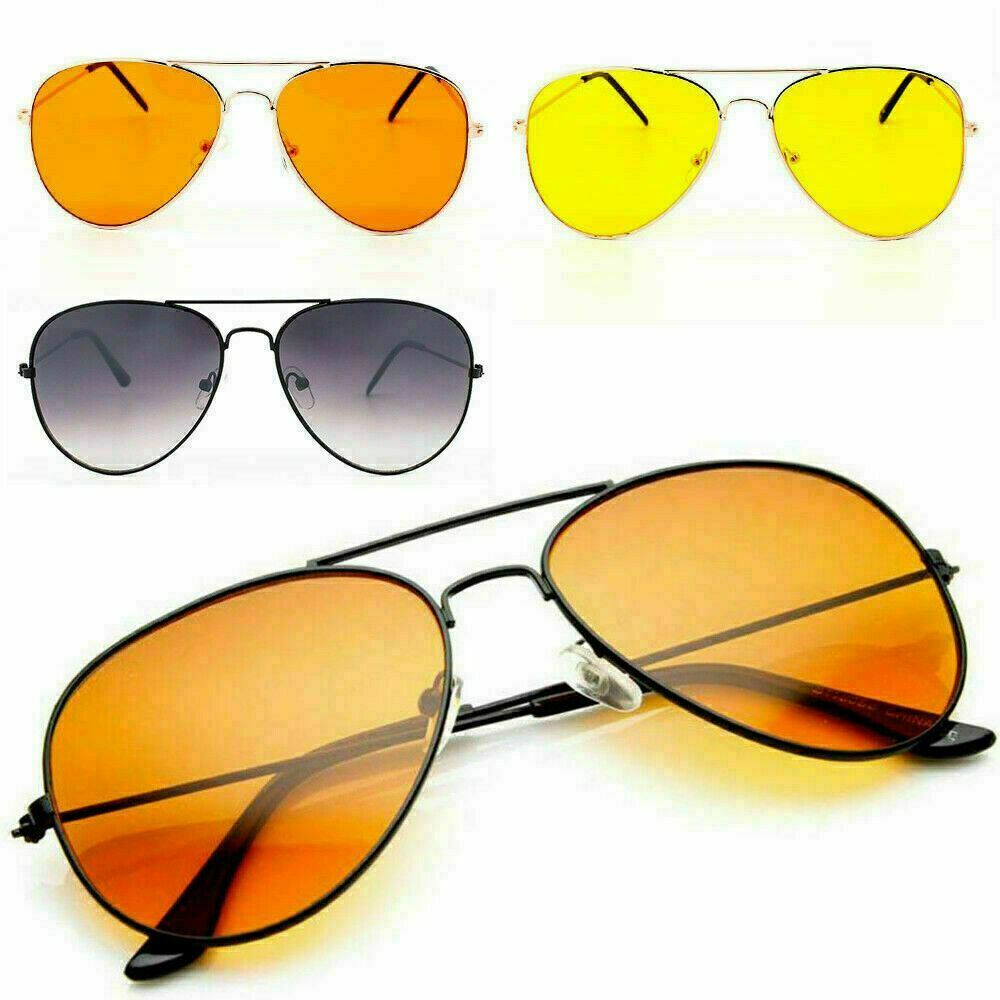 9620c7b1b79 Metal Frame Colour Lens Pilot Sunglasses Orange Yellow Men Womens Fashion