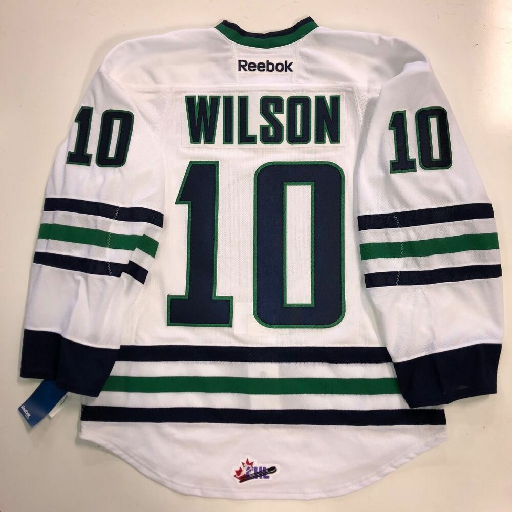 Details about TOM WILSON PLYMOUTH WHALERS WHITE EDGE AUTHENTIC RBK JERSEY  WASHINGTON CAPITALS 30f59823f