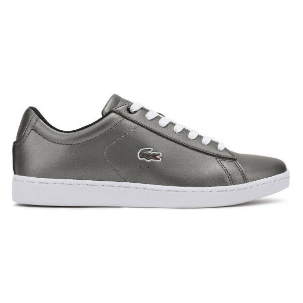 c3fb20775 Details about Lacoste Womens Lacoste Womens Dark Grey Carnaby EVO 317 4  Trainers Casual SHOES