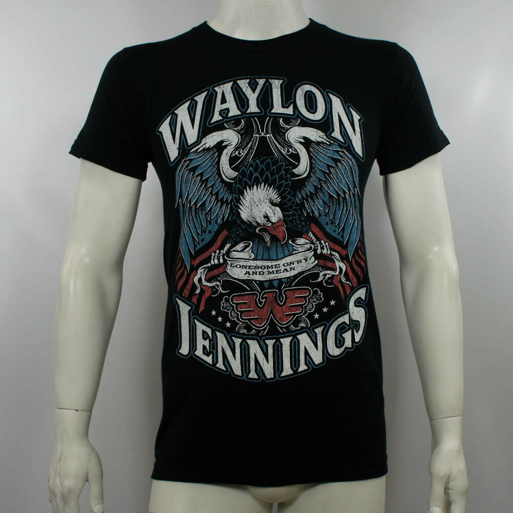 3d5c6e9a Details about Authentic WAYLON JENNINGS Lonesome On'ry & Mean Eagle  Slim-Fit T-Shirt S-3XL NEW