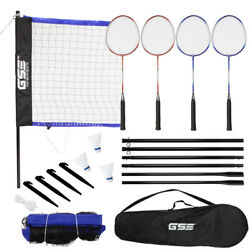 Kyпить Outdoor Backyard Portable Complete Badminton Set w/Net, 4 Rackets&3 Shuttlecocks на еВаy.соm
