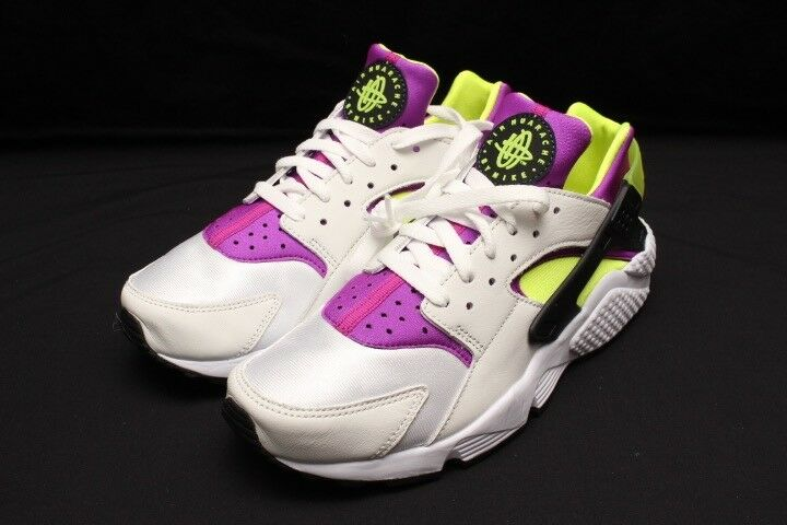 f9191f5021b1b Details about NIKE AIR HUARACHE RUN  91 QS - WHITE-BLACK-NEON AH8049-101