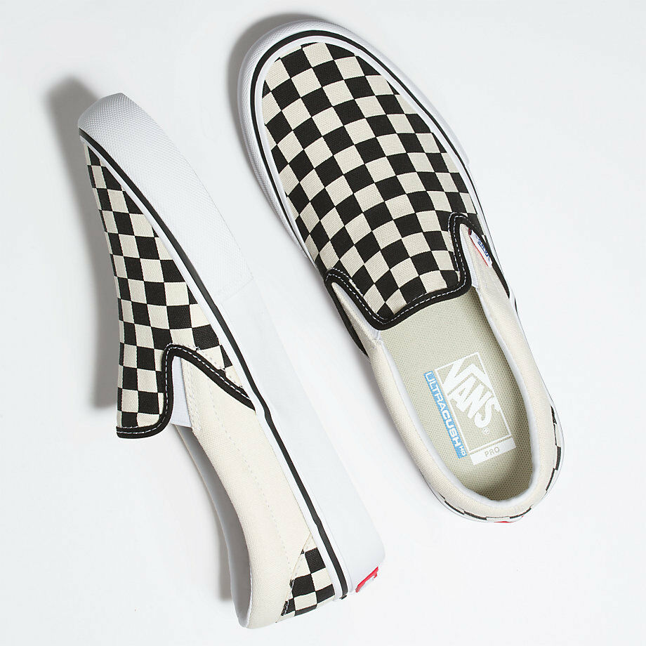 Details about Vans Slip On Pro Shoes - Checkerboard Black White - Sizes 5-12 41d015836