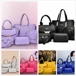 NEW Women Handbag 6pcs/Set Noble Shoulder Bags Totes Messenger Bag Purse Leathe