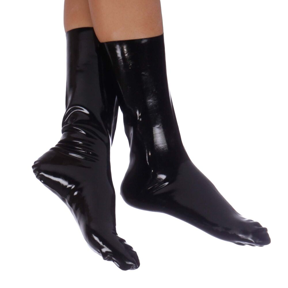 a4e6776878 Details about Brand New Black Latex Rubber Socks (one size)