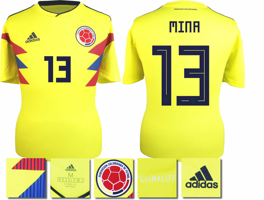 58ba63a6937 ... where to buy mina 13 colombia home 2018 world cup adidas shirt ss  adults ebay 3f9b6