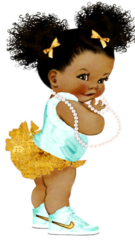 Afro Puff Baby Edible Cake Topper A4 Image Icing
