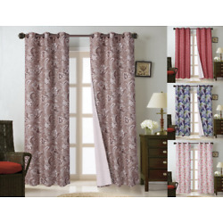1PC (FLORA) HIGH QUALITY WINDOW CURTAIN BLACKOUT ROOM DARKENING IN 36'' LONG