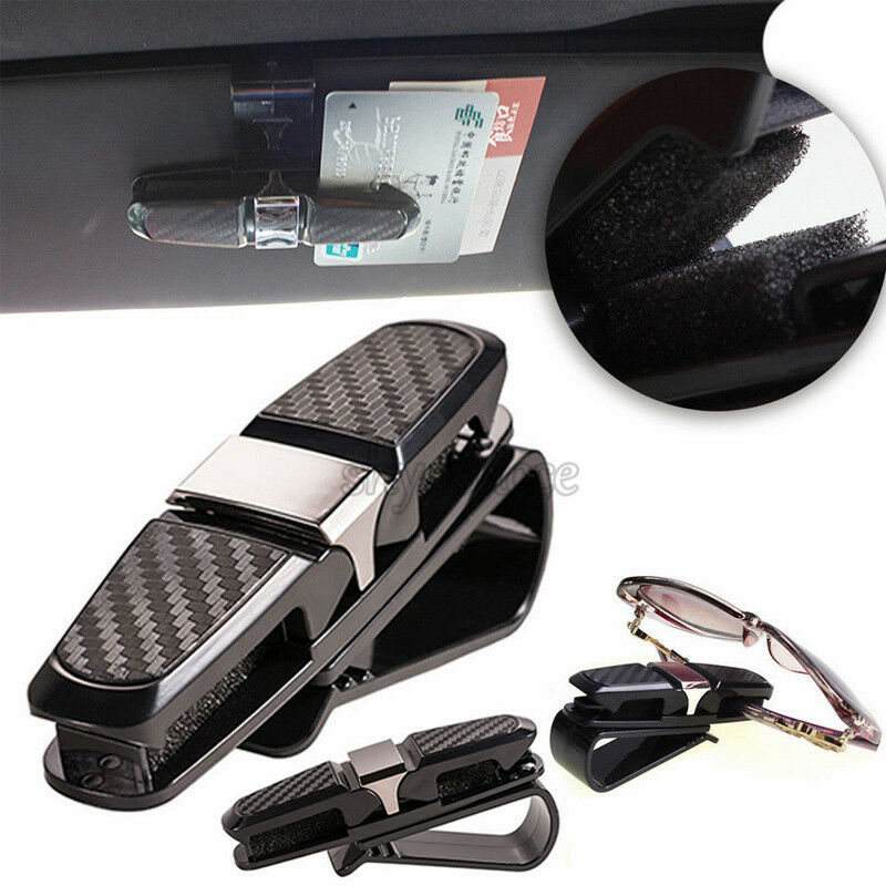 7a92222db8f Details about Auto Car Sun Visor Glasses Clip Card Ticket Holder Mount  Storage For Sunglasses