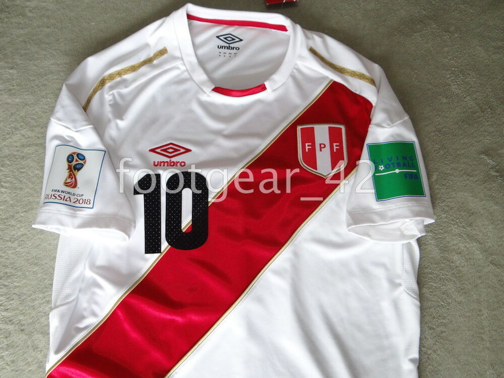 9952a4bf5 WORLD CUP RUSSIA 2018 AUTHENTIC UMBRO PERU SOCCER HOME JERSEY NEW