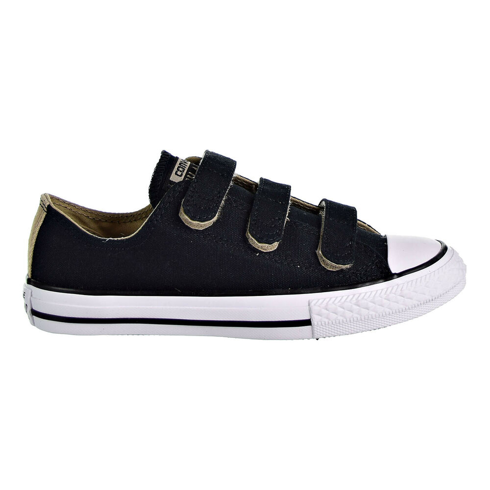0f7ef9d7049202 Details about Converse Chuck Taylor All Star 3v Ox Street Kid s Shoes Black  White 659999F