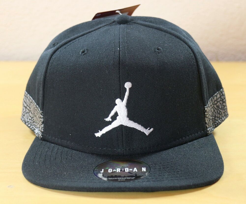 80ab3aef4d181 Details about Nike Air Jordan Jumpman Pro AJ3 Elephant Adjustable Snapback  Hat Cap 942188-010